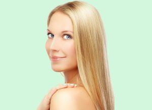 Etiqueta cabellos rubios