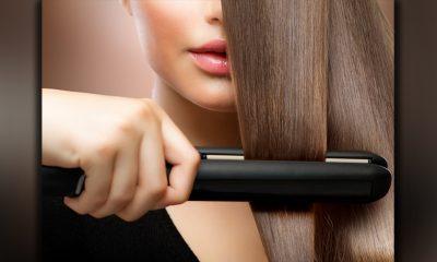 Uso de la plancha para alisar el cabello
